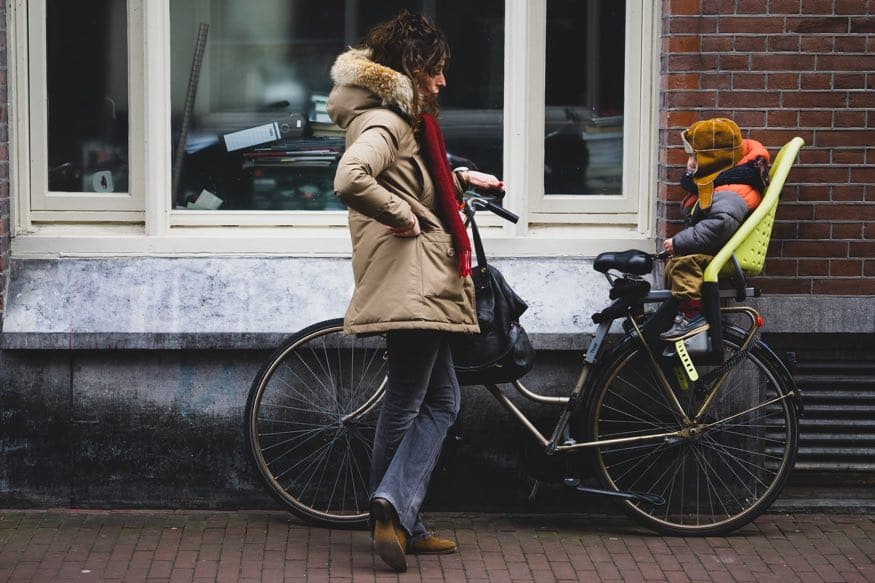 Mama en fiets