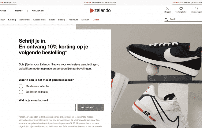 Nieuwsbrief van Zalando